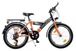 """Citybike 6v. 20"""" jongen zwart/oranje"""