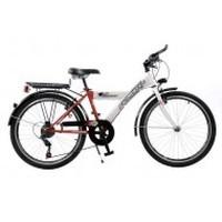"""Citybike 6v. 24"""" jongen rood/wit"""